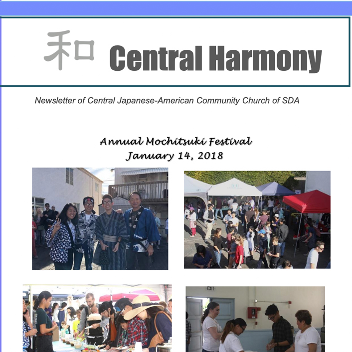 Central Harmony Newsletter